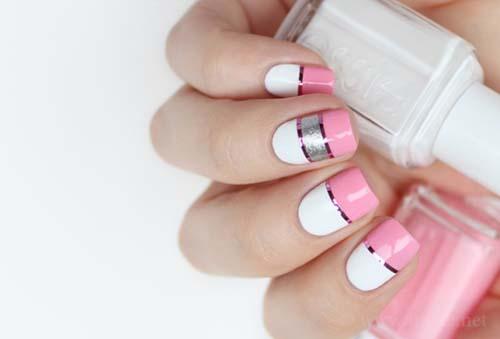 Άσπρα - ροζ νύχια (29)