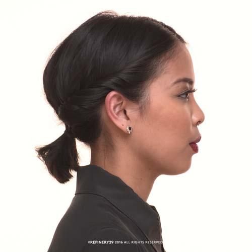 Χαμηλή αλογοουρά για κοντά μαλλιά (15)