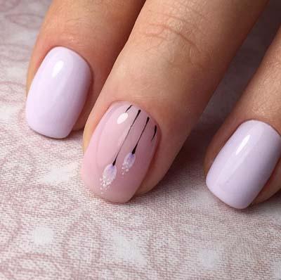 Κομψά και διακριτικά σχέδια για νύχια (8)