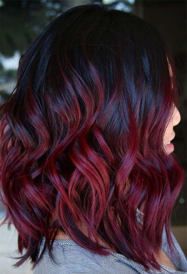 Maroon Hair Highlights