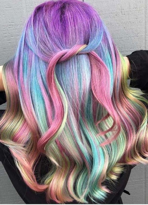 Rainbow Hair Highlights