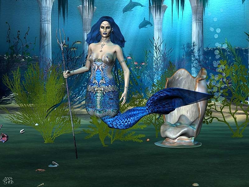 Strong Girl Wallpaper 3d Mermaid