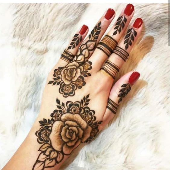 2 Flower Arabic Mehndi Design