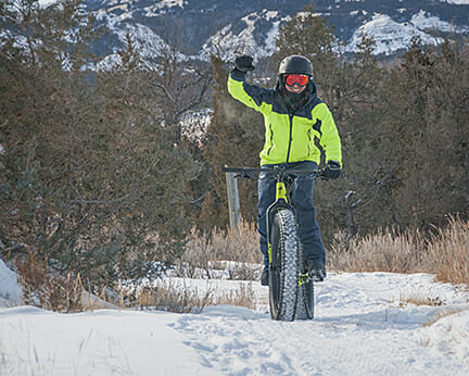Poco Frio Rio a good race in the badlands through the snow on a mountain bike