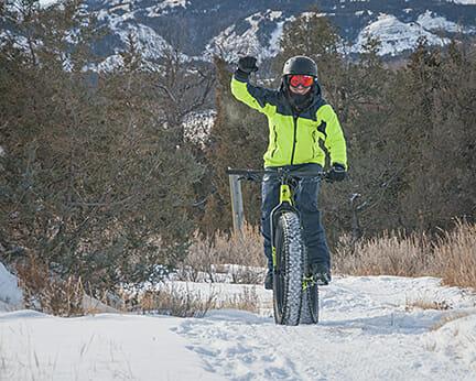 Poco Frio Rio a good race in the badlands through the snow on a mountain bike