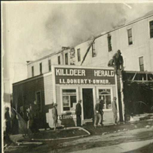 Almost burned down, fire and progress changed Killdeer Main Street