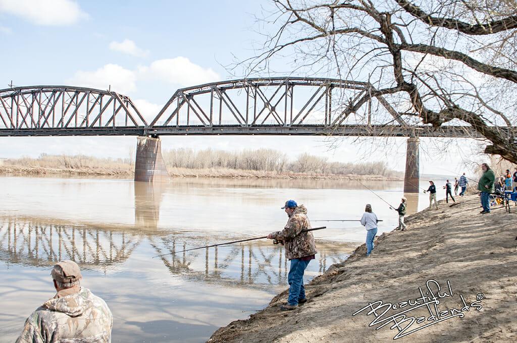 Fairview lift bridge and paddlefishing
