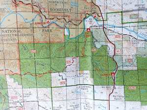ridges are tops for hikes forest service map