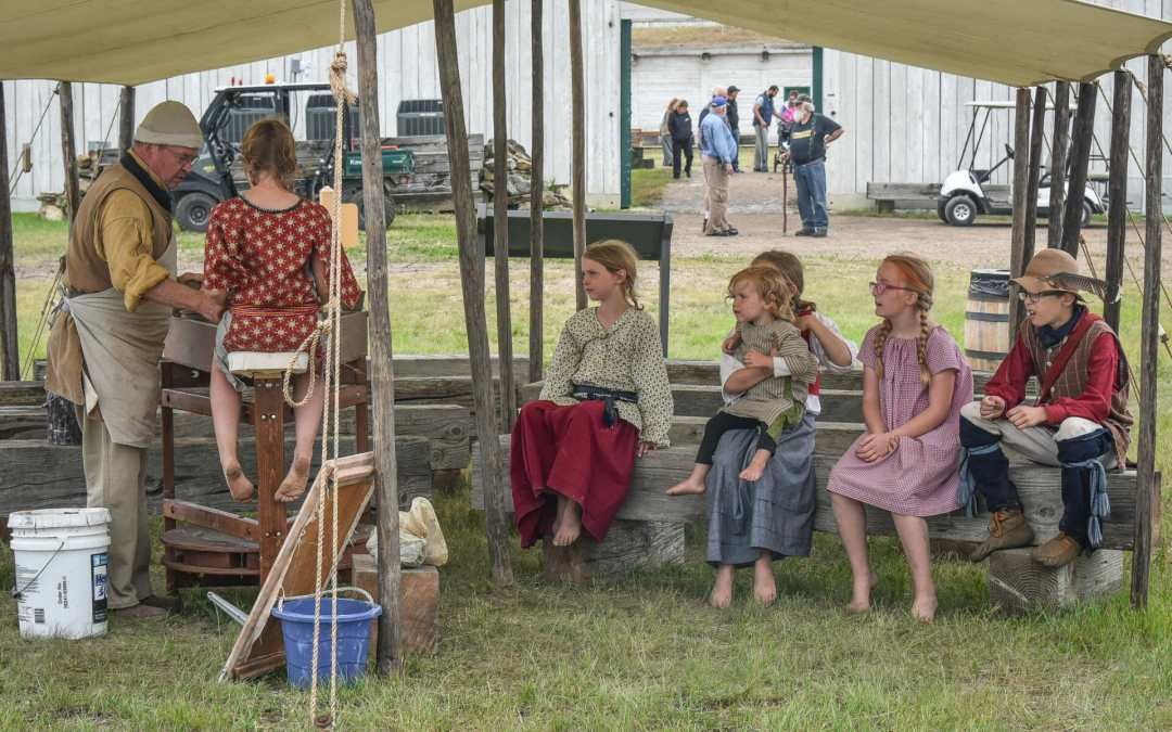 The potters wheel was a big attraction at the Fort Union Rendezvous.