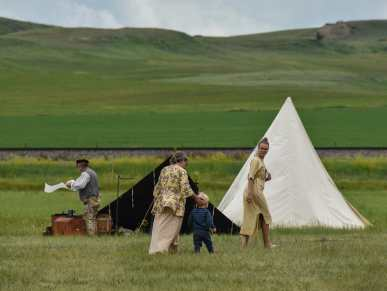 Re-enactment of a fur trader rendezvous brings people of all ages at Fort Union Historic Trading Post in western North Dakota.