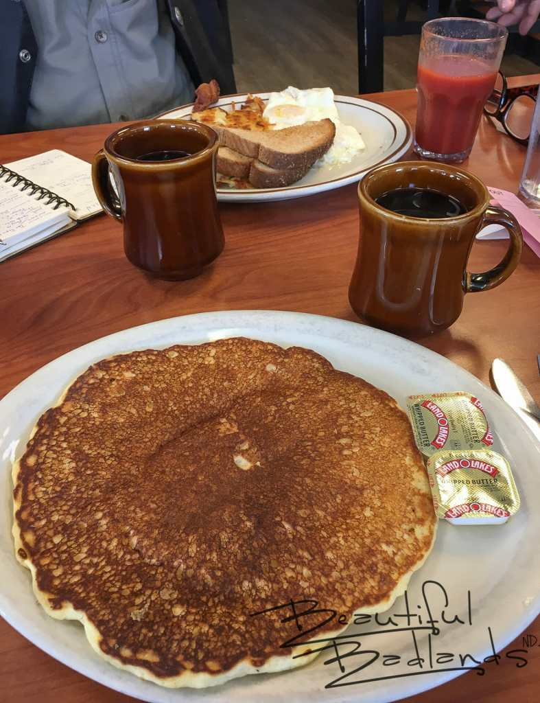 One pancake was more than enough to fuel me for our western adventures.