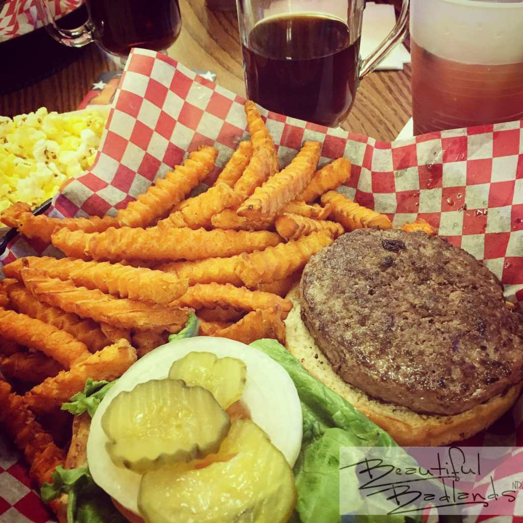 All American Hamburger and Fries, sometimes the most satisfying meal after a day of exploration.