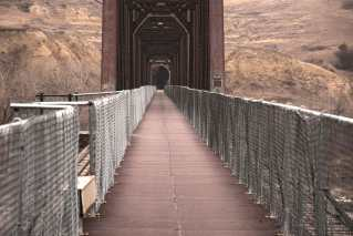 Fairview Lift Bridge is an exciting healthy walk between the protective fences