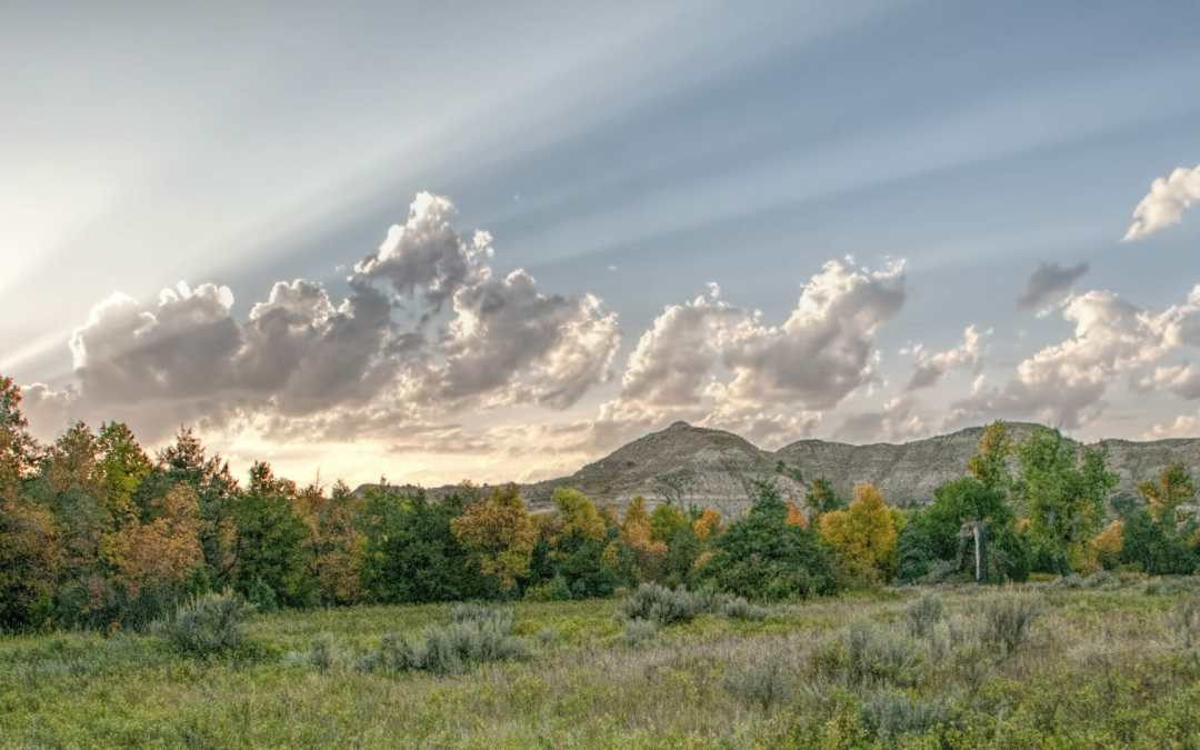 Autumn skies over TR's Elkhorn Ranch — Snapshot Saturday