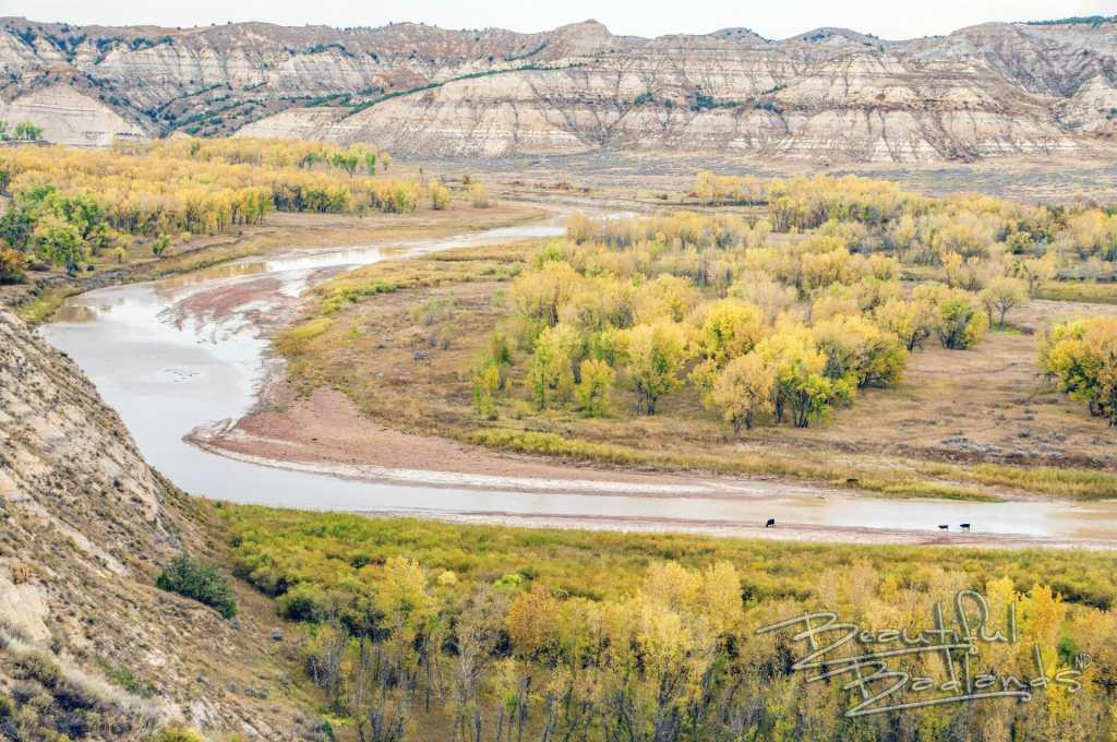 Maay Daah Hey trail crosses the Little Missouri River