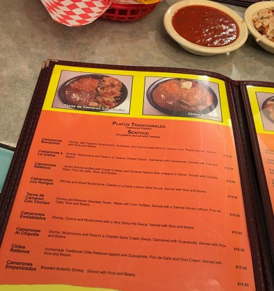 Page of page!  The choices were many at Los Compadres.