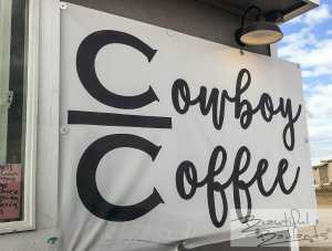 The logo of Cowboy Coffee in Killdeer, North Dakota It's their 'brand'!