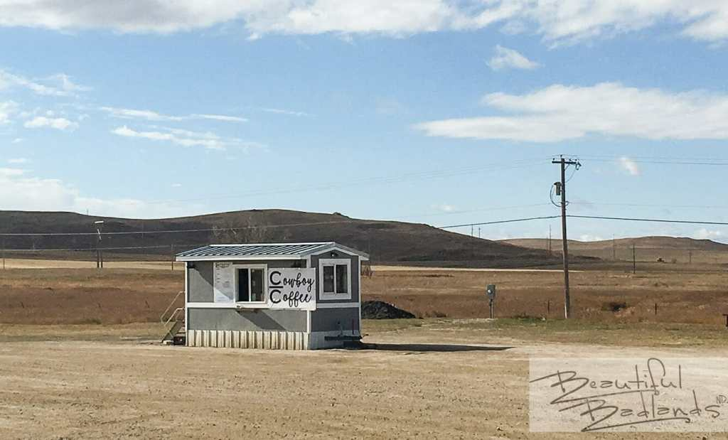 Cowboy Coffee is easy to access, north of the Highway 200/22 roundabout in Killdeer, North Dakota.