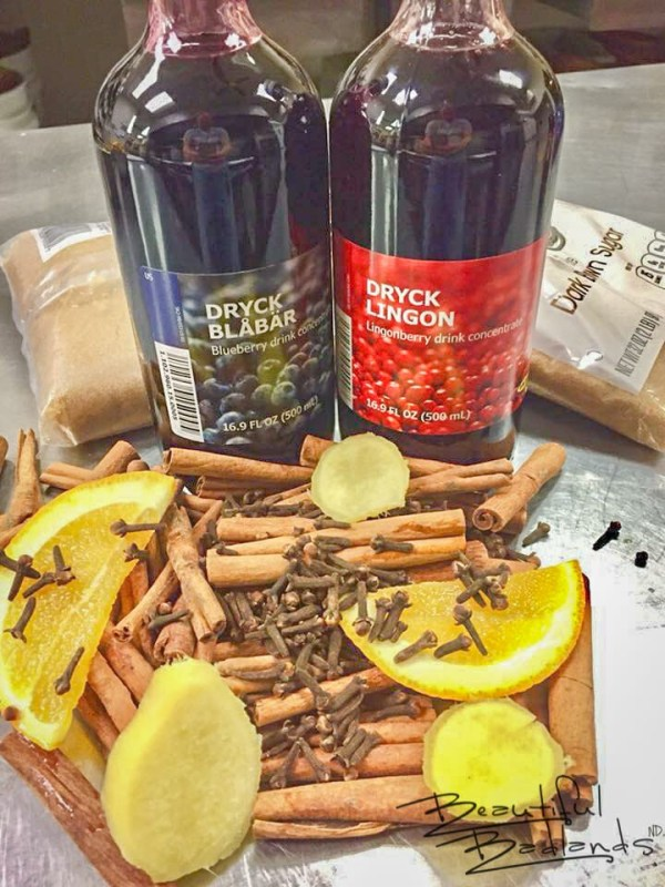 Ingredients for Glogg, a Traditional Scandinavian Holiday Drink