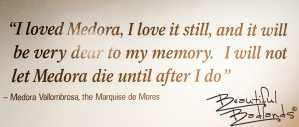 The Marquise Loved Medora!