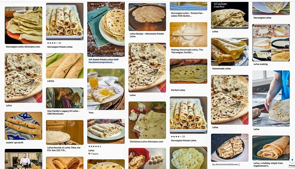 Uff Da! That's A Lot of Lefse on Pinterest!