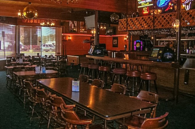 Bar at the South 40, Sidney, Montana. Photo courtesy the South 40 Facebook page.