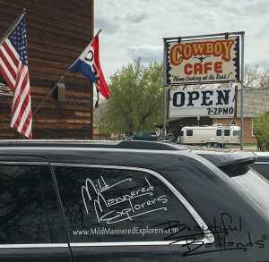 Cowboy Cafe, Medora, North Dakota. We like it there!