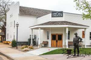 The Old Town Theater in Medora, North Dakota is home to a gallery of beautiful paintings as well as a stage and auditorium for performances