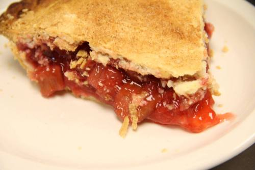 Rhubarb Pie from Dakota Farms Restaurant, Williston (photo courtesy Facebook)