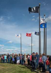 The Crowds Line Up For Fondue on a Perfect Summer Evening! Medora, North Dakota