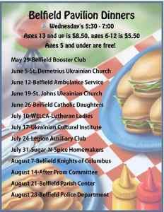 Belfield Pavilion Dinners, Belfield, North Dakota