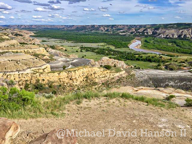 Iconic View of Little Missouri River at the North Unit of Theodore Roosevelt National Park, by Michael David Hanson II