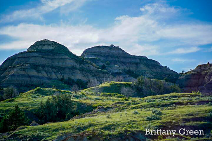 North Dakota badlands Beautiful Buttes of the Badlands at Theodore Roosevelt National Park, South Unit. By Brittany Green