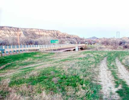 Medora, Old Highway 10, Little Missouri River bridge