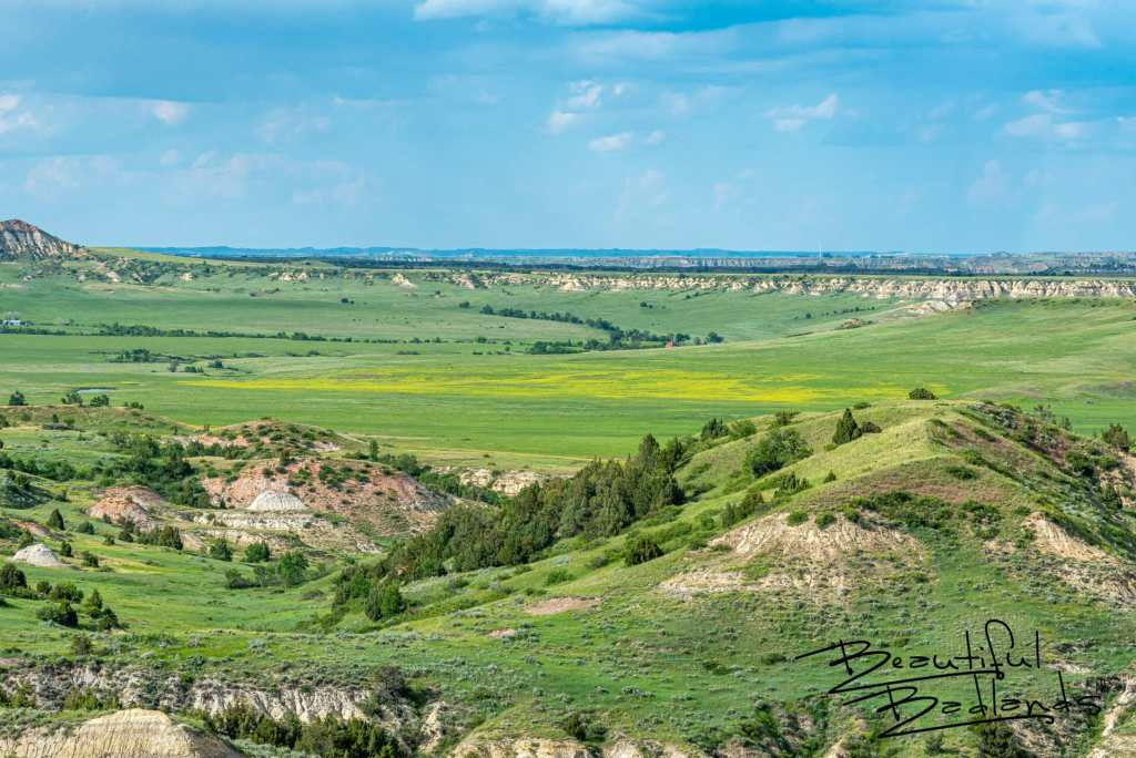 Looking to Medora from Chimney Butte In the Badlands of North Dakota