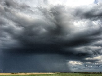 Storm Moving West, Highway 1804 West of Garrison, North Dakota August 25, 2019