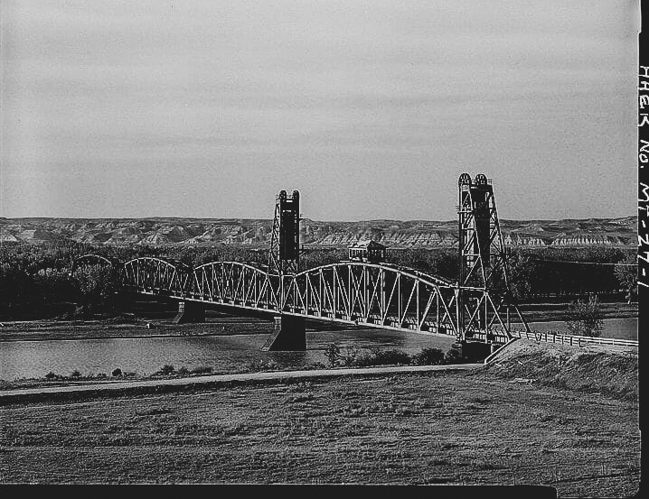 The Snowden-Nobly Bridge, Montana as viewed from the southwest.