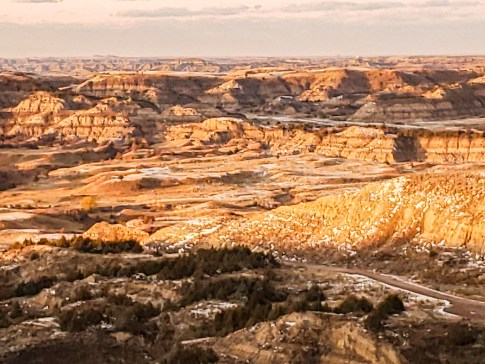 golden hour valley badlands