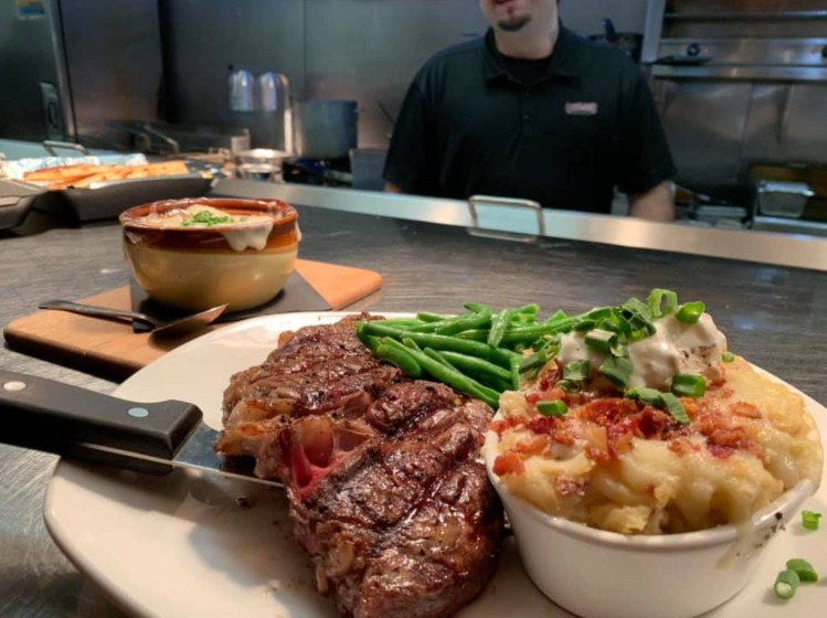 Fine Dining at Outlaws' Bar and Grill, Williston, North Dakota