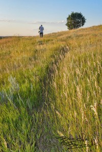 Hiking Summit Trail, McKenzie County, North Dakota