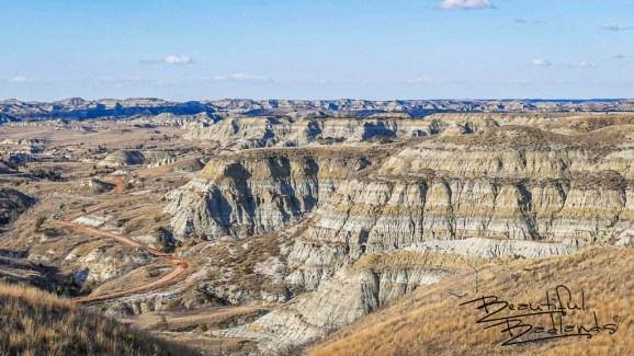 Beyond Goat Pass Road one of the Badlands Trio