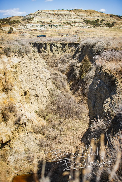 tributary wash out steep walls