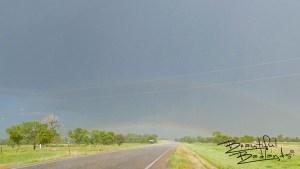 Double rainbow over Buffalo, South Dakota after an intense July storm near Camp Crook.