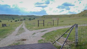 Across the Cattle Guard is Access to Camping and Capitol Rock, west of Camp Crook, South Dakota.