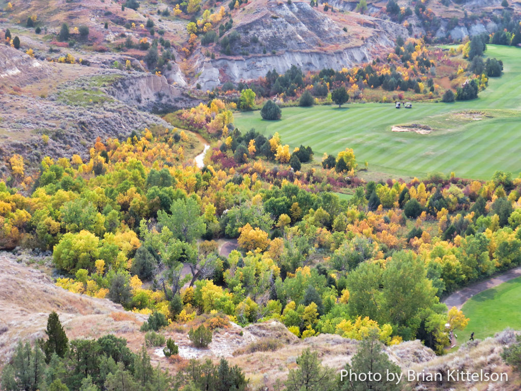 Fall at Bully Pulpit Golf Course holds astounding beauty in the fall. Part of the golf course lies on the Custer Trail, which led General Custer and his troops to the Little Big Horn in 1876.