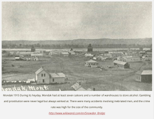 Mondak, Montana/North Dakota During It's Boom Years