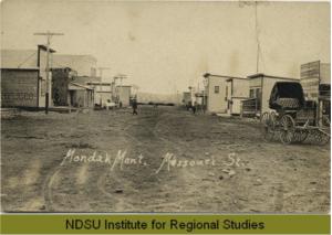 Missouri Street, the Main Street in Mondak, Montana/North Dakota During It's Bloom