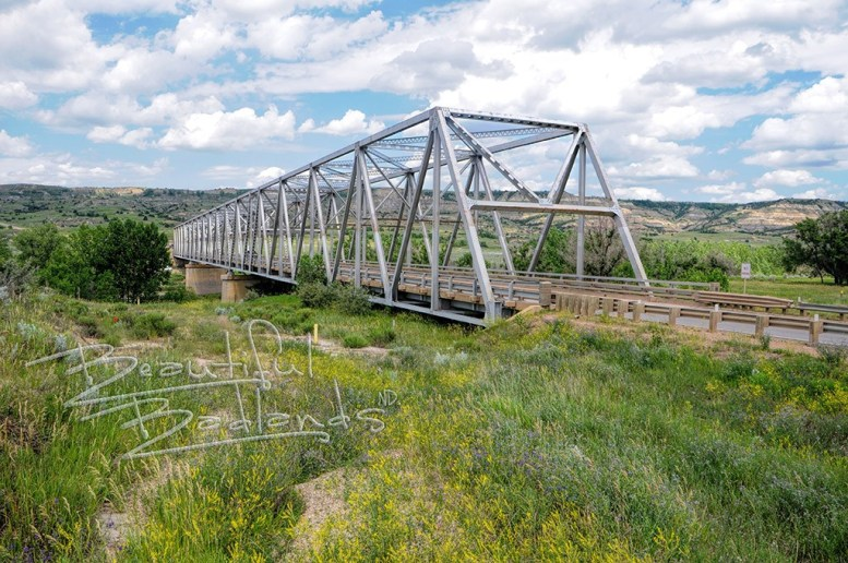 Long x bridge in spring