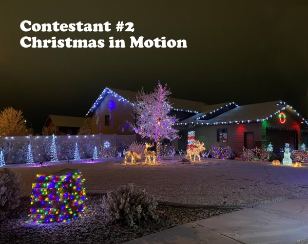 Dickinson's annual Light Fight entrant #2. More information and photos on their Facebook page, Dickinson's Light Fight.