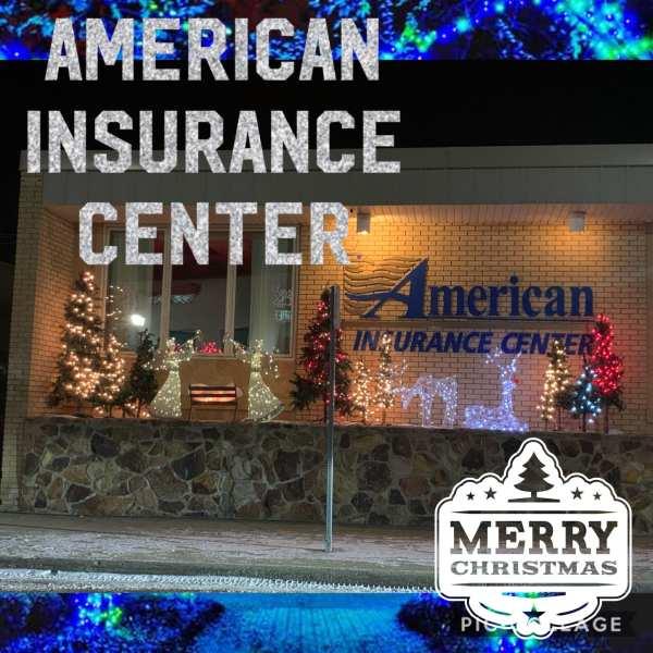 Christmas lights at the American Insurance Center, Watford City, North Dakota. More information here: Facebook Watford City, North Dakota (@watfordcity)